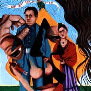 image borrowed from Frida Kahlo and Diego Rivera's wedding painting