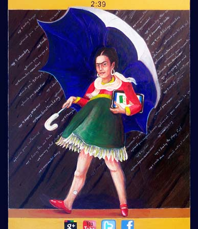Frida Kahlo as the Morton Salt Girl