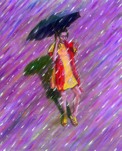 image of lady inspired by the Morton Salt logo