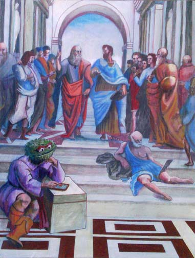 My homage to Raphael's The School of Athens